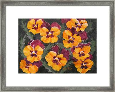 Pansies Are For Thoughts Framed Print