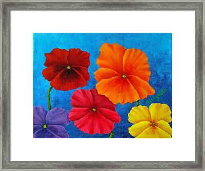 Pansies For Rosalina Framed Print by Pamela Allegretto