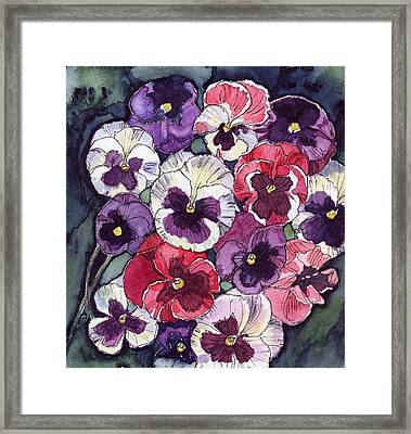Pansies Framed Print by Katherine Miller