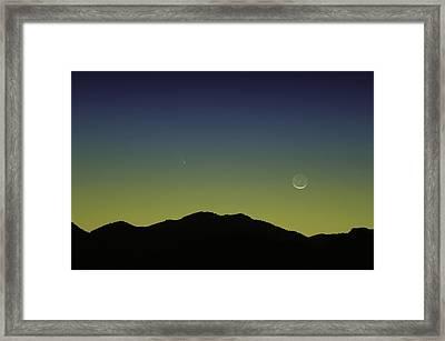 Panstarrs Comet Framed Print