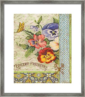 Pansy Garden-b Framed Print by Jean Plout