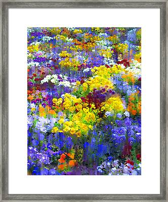 Pansy Party Framed Print