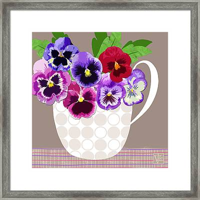 Pansy Passion Framed Print