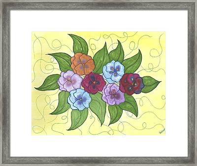 Pansy Posy Framed Print by Susie WEBER