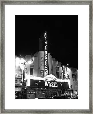 Pantages Theatre Framed Print