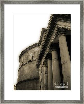 Framed Print featuring the photograph Pantheon by Angela DeFrias