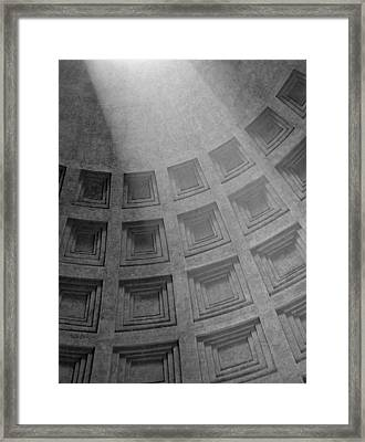 Pantheon Ceiling Framed Print