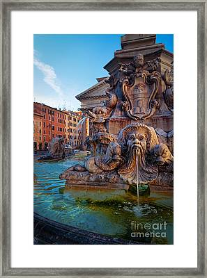 Pantheon Fountain Framed Print