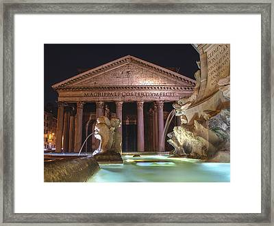 Pantheon Framed Print by Linda Dunn
