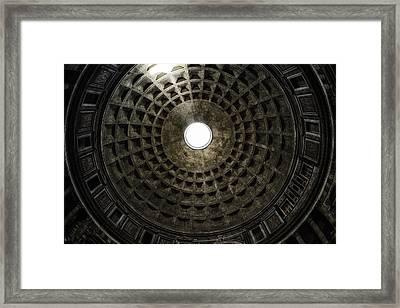 Pantheon Oculus Framed Print by Joan Carroll