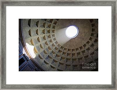 Pantheon Sunbeam Framed Print
