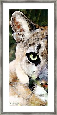 Panther Art - Florida's Feline Framed Print by Sharon Cummings