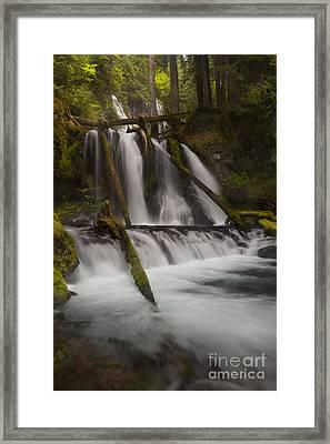 Panther Creek Falls Washington Framed Print by Keith Kapple
