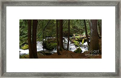 Panther Creek Panorama- Washington Framed Print