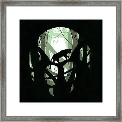Panther Paw Framed Print by Daniel Hapi