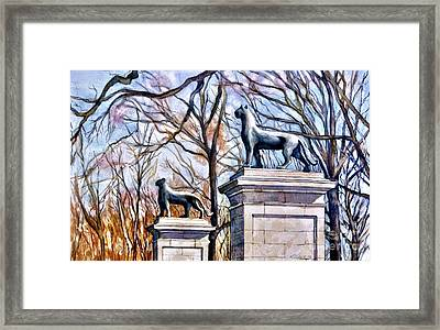Panthers At The Gate Framed Print