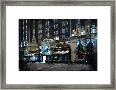 Pantlind Hotel Grand Rapids Mi Framed Print by Evie Carrier