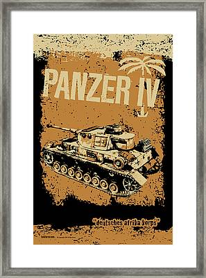 Panzer Iv F2 Framed Print by Philip Arena