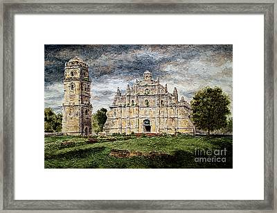 Paoay Church Framed Print by Joey Agbayani