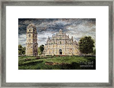 Paoay Church Framed Print