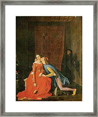 Paolo And Francesca Framed Print by Jean-Auguste-Dominique Ingres