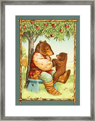 Papa Bear Framed Print