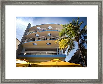 Congress Hotel Of South Beach Framed Print by Karen Wiles