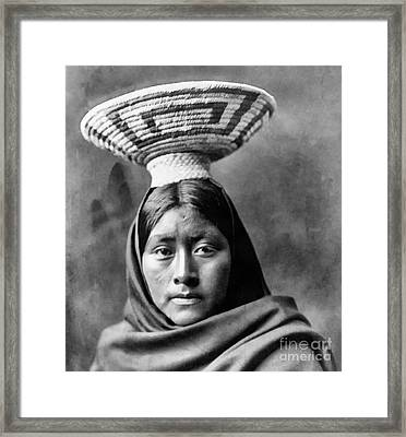 Papago Indian Luzi Framed Print