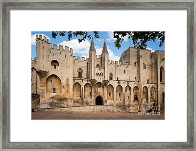 Papal Castle In Avignon Framed Print by Inge Johnsson