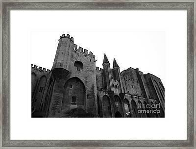 Papal Palace Framed Print by John Rizzuto