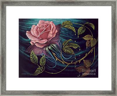 Papalotl Rosalis Framed Print by Ricardo Chavez-Mendez