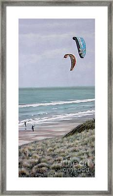 Papamoa Beach 090208 Framed Print