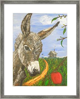 Papas Last Apple Framed Print