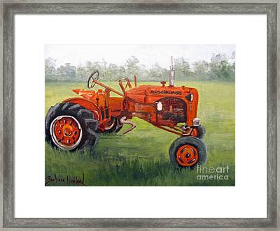Papa's Red Tractor Framed Print
