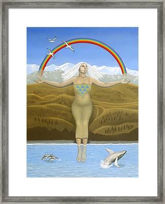 Papatuanuku / Capricorn Framed Print by Karen MacKenzie