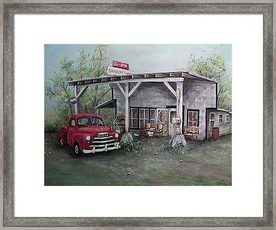 Papaw's Store Framed Print by Sherry Cooper