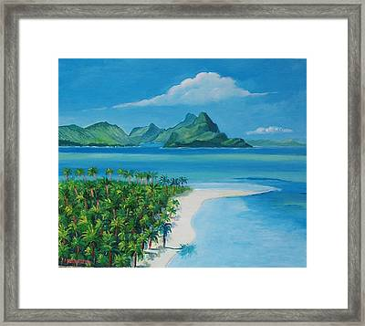 Papeete Bay In Tahiti Framed Print