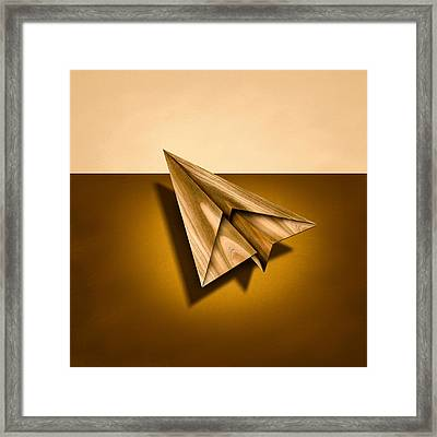 Paper Airplanes Of Wood 1 Framed Print