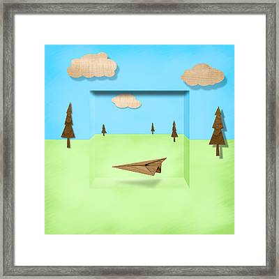 Paper Airplanes Of Wood 11 Framed Print by YoPedro