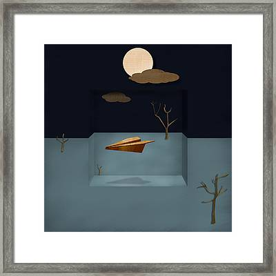 Paper Airplanes Of Wood 13 Framed Print