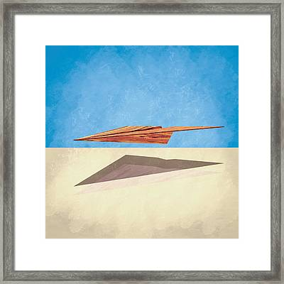Paper Airplanes Of Wood 14 Framed Print