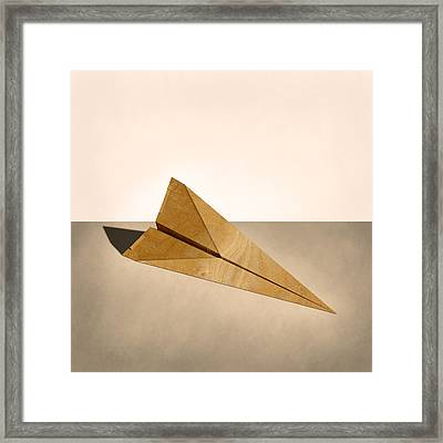 Paper Airplanes Of Wood 15 Framed Print
