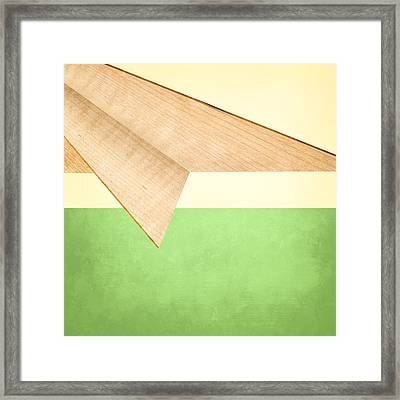 Paper Airplanes Of Wood 17 Framed Print