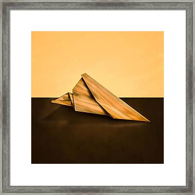 Paper Airplanes Of Wood 2 Framed Print by Yo Pedro