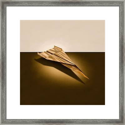 Paper Airplanes Of Wood 3 Framed Print