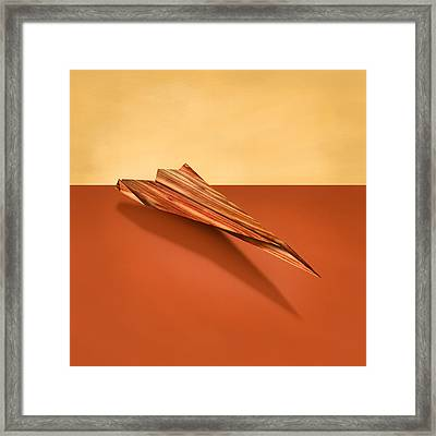 Paper Airplanes Of Wood 4 Framed Print by YoPedro