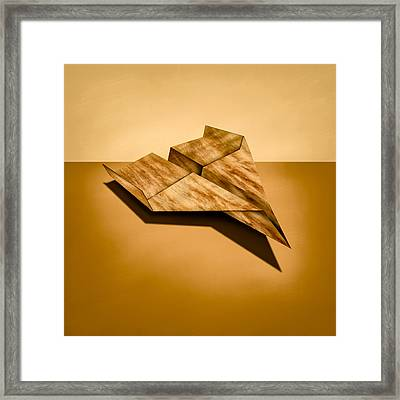 Paper Airplanes Of Wood 5 Framed Print