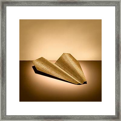 Paper Airplanes Of Wood 6 Framed Print