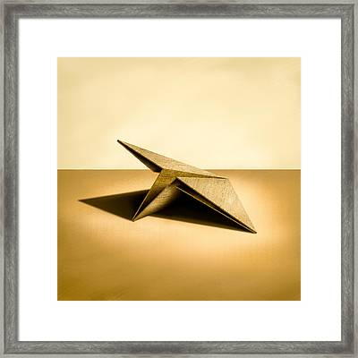 Paper Airplanes Of Wood 7 Framed Print by YoPedro