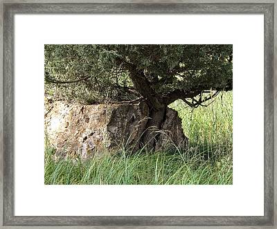 Paper Beats Rock Framed Print